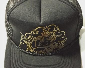 Mermaid Represent Trucker Hat - with printed brim