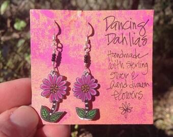 Dancing Dahlias earrings