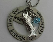 JBK My Heart Belongs to a Fisherman necklace