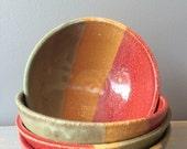 Reggae Bowl: Rasta Red Gold and Green Single Serving Bowl