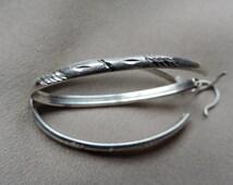 large oval sterling hoop earrings