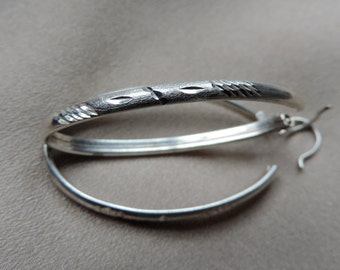 large oval sterling hoop earrings