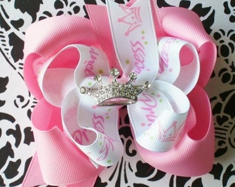 NEW----Boutique Girl Hairbow Clip and Brooch------Pretty Princess----FREE SHIPPING