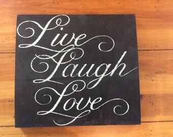Live Laugh Love Sign - Live Laugh Love - Live Laugh Love Sign - Sign - Home Decor - Love Sign - Live - Laugh - Love - Christmas Gift - Gift