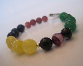 Gemstone Colorblock bracelet