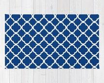 Popular items for tapis royal on etsy for Decoration quadrilobe