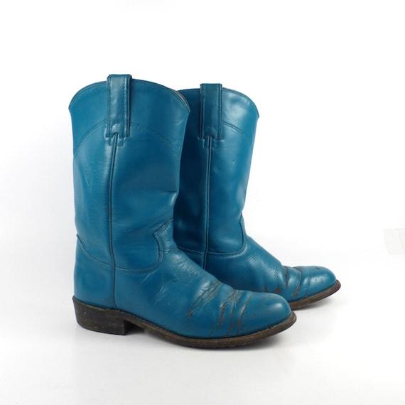 Simple Women39s Dan Post Vintage Blue Bird Western Boots Chocolate  Teal