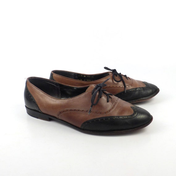 bass oxford shoes leather vintage 1980s two by
