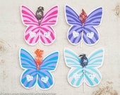 Butterfly Party Garden Bug Spring printable party favor kit DIY butterfly party favors for suckers or lollipops instant download file