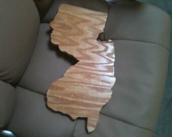 Wooden handmade New Jersey Cutting Board