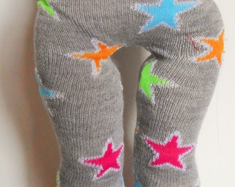 SALE - Grey leggings with red green and blue stars fit American Girl