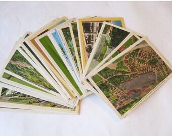 1940s Linen Postcard Lot - all 46 North Carolina- Aerials, Buildings, Cars