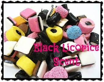 BLACK LICORICE CANDY Scent - Soy Melts - Tarts - Old Fashioned -  Hand Poured - Highly Scented