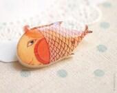 Goldfish brooch - Cute brooch - Cute gift - Animals brooch (BH005)