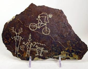 Biking Among The Spirits Hand Carved Rock Petroglyph