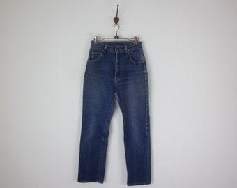 Lee Vintage Dark Wash High Waist Wide Leg Denim Jeans 28