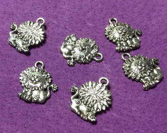 Cute Leo Lion Pewter Charms
