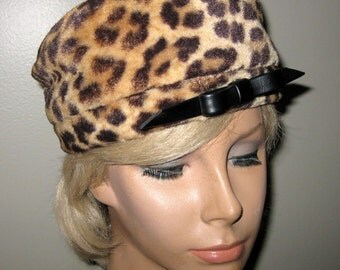 Mr John Faux Leopard Hat