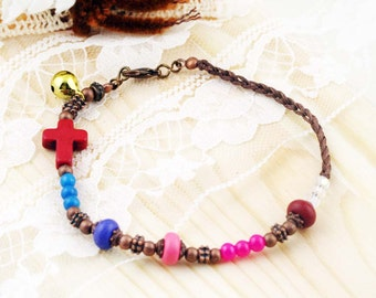 Goodness anklet - dyed howlite