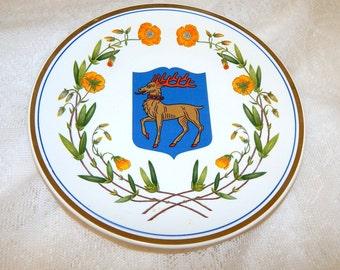 Vintage Gefle Plate  Öland  Sweden 1978