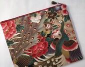 Peacock iPad Case/ Zipper Pouch/ Clutch Bag