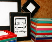 """11x17 picture frame, Bright colored frame, Black photo Frame, weathered frame, Distressed frame, shabby frame, colorful frame,67 colors 1.5"""""""