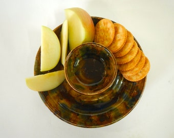 Chips and Dip Platter Small stoneware