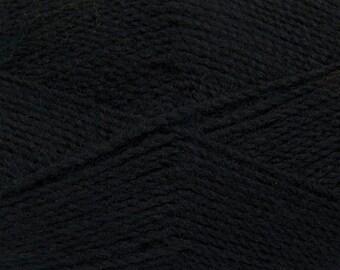 Black - Angora/Acrylic Sock Knitting Yarn, 100 grams