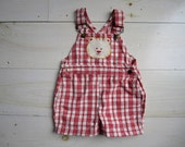 Vintage Baby Overall Shorts . Size 12 Months