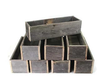 Wedding Decor -  8 Table Centerpiece Boxes - Reclaimed Fence Wood
