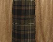 Outlander - Scottish Wrap Skirt - Ladies Long Kilt - Green & Gray Plaid Tartan