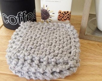 Knitted Coasters-Heather Gray