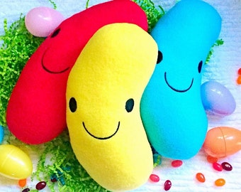 Plush Jellybean Easter Stuffed Toy Food You Pick Color