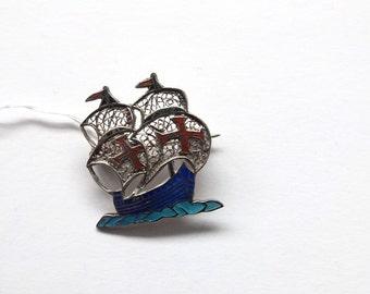 Vintage //// Sterling Silver filigree vessel