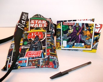 Disney StAR WARS Comic autograph book bag with book, bag, and pen Personalized for FREE adjustable strap