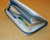 Large Zippered Leather Wallet