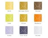 "6"" x 6"" (152mm X 152mm) Square Envelope - Metallic Finish  25/Pk"