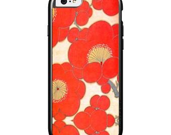 iPhone 6 iPhone 5 iPhone 4 Covers - Vintage Kimono Fabric (Poppies)