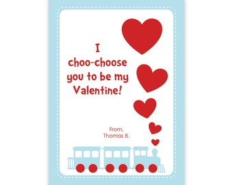 photograph regarding I Choo Choo Choose You Printable Card named products related towards practice valentines printable small children valentines