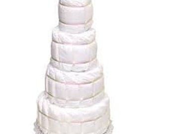 Undecorated Diaper Cake, DIY Diaper Cake, How to make a diaper cake, Baby Shower Diaper Cakes, Baby Shower Decorations, Baby Shower Gift