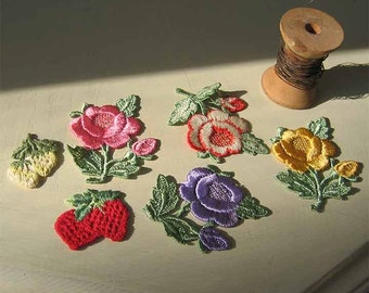 Appliqué Roses and Strawberries
