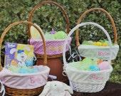 GIRLS Monogrammed Easter Basket Liner-Choose from 14 Fabrics