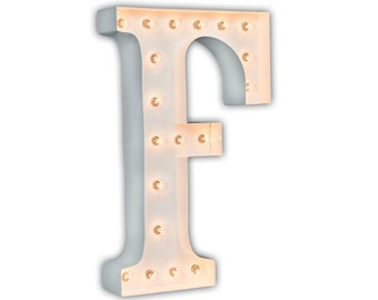 "SALE - Letter Light F - WHITE - 24"" Vintage Marquee Lights-The Original!"