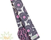 Gray and Purple Camera Strap Cover DSLR Padded Lens Cap Pocket -- Ready To Ship