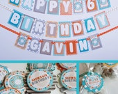 RESERVED for Catherine - Boy Doughnut Birthday Party Decorations