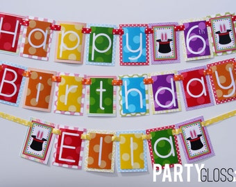 Magic Show Birthday Party Banner Decorations Fully Assembled