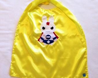 Team Super Animals - Star Bunny Yellow Cape