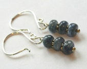 Shimmery Kyanite Gemstone Stack Sterling Silver Earrings