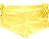 Follow Your Bliss Yoga Shorts - Yellow