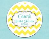 100 custom stickers 2inch round stickers (No.6) chevron - wedding or graduation or baby shower or bridal shower